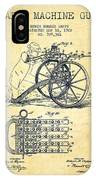 Capps Machine Gun Patent Drawing From 1902 - Vintage IPhone Case