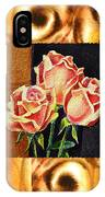 Cappuccino Abstract Collage French Roses IPhone Case
