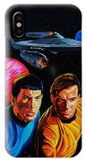 Captain Kirk And Mr. Spock IPhone Case