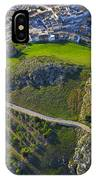 Carcabuey Castle From The Air IPhone Case