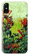Cardinal Flowers IPhone Case