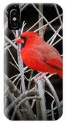 Cardinal Red With Black IPhone Case