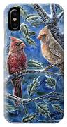 Cardinals And Holly IPhone Case