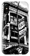 Carlos And Pepe's Montreal Mexican Bar Bw IPhone Case