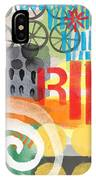Carousel #6 Ride- Contemporary Abstract Art IPhone Case