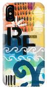 Carousel #7 Surf - Contemporary Abstract Art IPhone Case