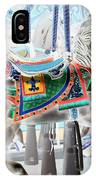Carousel Horse In Negative Colors IPhone Case