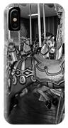 Carousel Horses In Black And White IPhone Case