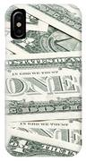 Carpet Of One Dollar Bills IPhone Case