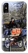 Carriage Driver - Central Park - Nyc IPhone Case