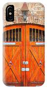 Carriage House Doors IPhone Case