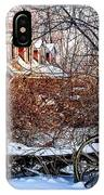 Carriage House In Snow IPhone Case