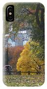 Carriage Ride Central Park In Autumn IPhone Case