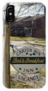 Carter Run Inn 1 IPhone Case