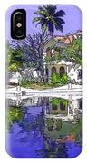Cartoon - Cottages And Lagoon Water IPhone Case