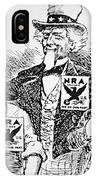 Cartoon Depicting The Impact Of Franklin D Roosevelt  IPhone Case