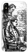 Cartoon: Phrenology, 1865 IPhone Case