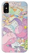 Cartoon Sea Creatures IPhone Case