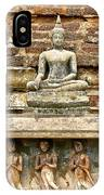 Carved Figures At Wat Mahathat In 13th Century Sukhothai Histori IPhone Case