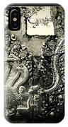 Carved Naga At Banteay Srey IPhone Case