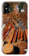 Carving Tools Of Pietro Picetti IPhone Case