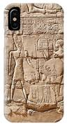 Carvings At The Temple Of Karnak IPhone Case
