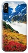 Cascade Pass Peaks IPhone Case
