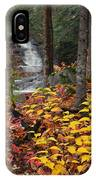 Cascade Creek  Autumn IPhone Case