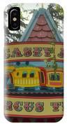 Casey Jr Circus Train Fantasyland Signage Disneyland IPhone Case
