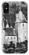 Castell Coch Mono IPhone Case