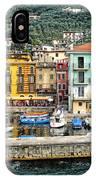 Castelleto Harbor.italy IPhone Case