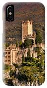 Sunset On The Castle On Lake Garda Italy IPhone Case