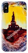 Castle Rock Silhouette Painting In Wax IPhone Case