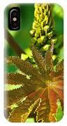 Castor Bean Leaf And Pod IPhone Case