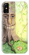 Cat And Great Mother Tree IPhone Case