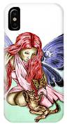 Cat Fairy In Blue  IPhone Case