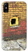 Cat In A Hole In A Wall IPhone Case