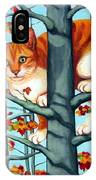 Orange Cat In Tree Autumn Fall Colors IPhone Case