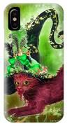 Cat In Fancy Witch Hat 2 IPhone Case