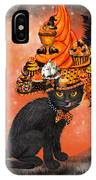 Cat In Halloween Cupcake Hat IPhone Case
