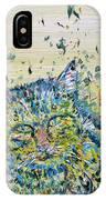 Cat In The Grass IPhone Case