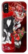 Cat In The Valentine Steam Punk Hat IPhone Case
