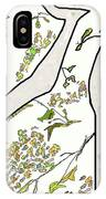 Cat In Tree White Background IPhone Case