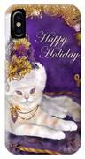 Cat In Victorian Santa Hat IPhone Case