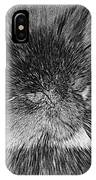 Cat - India Ink Effect IPhone Case