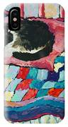 Cat On Pink  IPhone Case