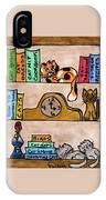Cat Shelves IPhone Case