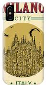 Cathedral Of Milano, Italy  In Vintage IPhone X Case