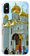 Cathedral Of The Annunciation Inside Kremlin Walls In Moscow-russia IPhone Case
