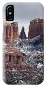 Cathedral Rock In Winter Arizona IPhone Case